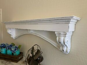 Fancy Arch Mantle Gothic Mantle Custom Wall Shelf Mantle With Corbels 60 Inch