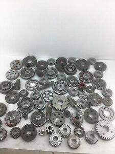 Industrial Machine Age Steel Lot 65 Gears Cogs Steampunk Art Parts Lamp Base