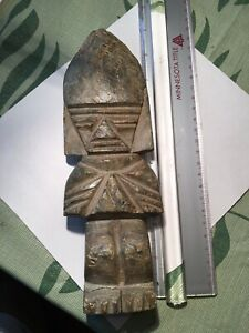Rare Pre Columbian Costa Rican Mayan Aztec Jade Axe God Weapon