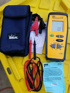 Ideal Digital Insulation Tester 61 795 With Case Accessories