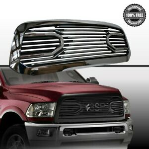 10 17 Dodge Ram 2500 3500 Front Chrome Black Big Horn Replacement Grille Shell