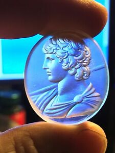 Glass Grand Tour Intaglio Like Antique Seal Tassie Engraved Gems Greek Antinous