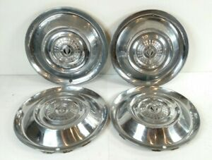 Set Of Four 1956 Chrysler Windsor 15 Inch Hubcaps Wheel Covers