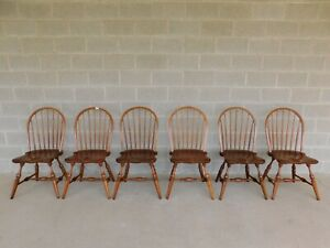 Stickley Cherry Valley Hoop Back Windsor Chairs Set Of 6
