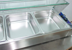 Food Insulation Equipment 6 well Commercial Bain marie Buffet Food Warmer 190223