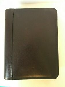 Franklin Covey Leather Zip Planner binder Brown 1 5 Rings Classic