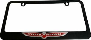 Jeep Trail Hawk License Plate Frame Black