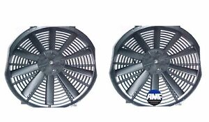 2x 12v 14 inch Electric Universal Cooling Radiator Fan