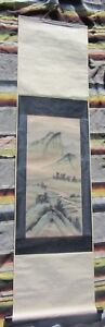 Beautiful Vintage Antique Chinese Landscape Painting Scroll