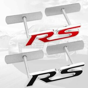 Black Or Red For Rs Grill Badge Racing Sport Front Emblem Grille Badge