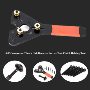 Fixed Car A c Compressor Pulley Chuck Wrench Tool Strength Maintenance Clutch