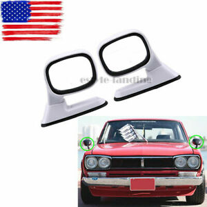 White Universal Blind Spot Mirror Wide Angle Rear Side View Vehicle Car Truck