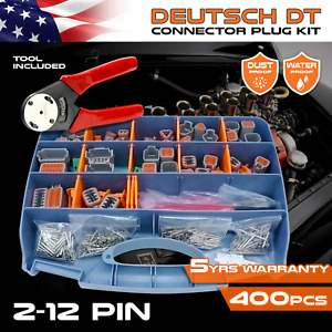 384 Pcs Deutsch Dt Connector Kit With Crimping Removal Pin Tools