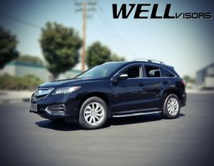 Wellvisors Rdx Chrome Trim Side Window Visors Rain Deflectors For 13 18 Acura