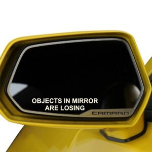 Set Of 2 Objects In Mirror Are Losing Funny Car Window Decal Sticker White Black