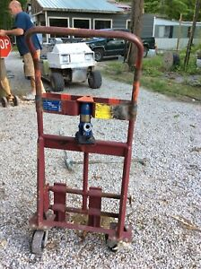Vintage Wesco Industrial Barrel Dolly Warehouse Cart Hand Truck