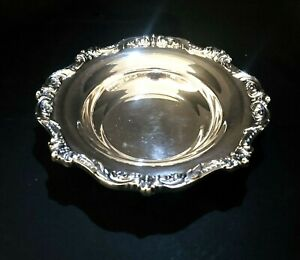 Vintage Poole Silver Co Old English Silver Plated Bonbon Dish