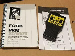 Actron Ford Code Scanner Trouble Reader Eec iv Mcu Cp9015 Lincoln Mercedes Book