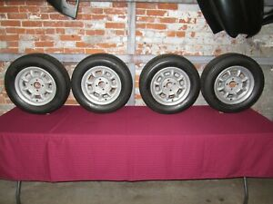 Original Minilite Wheels 13 X 6 Date Stamped 5 75 1975 Bmw 2002