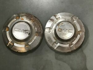 2 Vintage Gmc Blazer Jimmy Pickup Dog Dish Center Caps 12