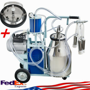 Electric Milking Machine For Goats Cows W bucket Automatic 550w 25l Farmer Use