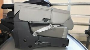2017 Ford F150 Center Console Jump Seat Grey Vinyl Oem New Take Out