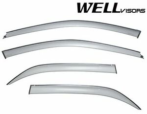 Wellvisors 4dr Sleek Hd Side Window Visors Deflectors For 98 02 Honda Accord