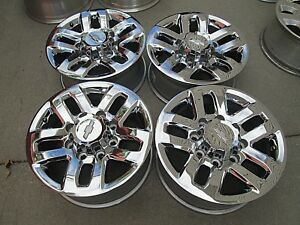 18 Chevy Gmc 2500hd 3500hd Oem Factory Wheels Rims With Chrome Caps