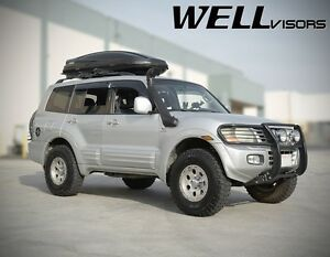 Wellvisors Premium Series Side Vents Window Visors For 01 06 Mitsubishi Montero