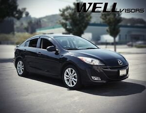 Wellvisors W Black Trim Side Window Visors Deflectors For 10 13 Mazda 3 Sedan