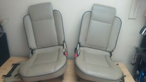 2000 Land Rover Discovery Ii Rear Jump Seats Tan With Black Piping