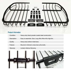 Universal Heavy duty Rooftop Rack Luggage Basket Cargo Carrier Storage For Jeep
