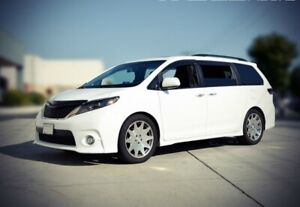 Wellvisors Clip On Smoked Side Window Visors Deflectors For 11 up Toyota Sienna