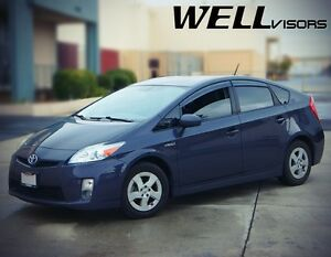 Wellvisors Clip On Smoked Side Window Visors Deflectors For 10 15 Toyota Prius