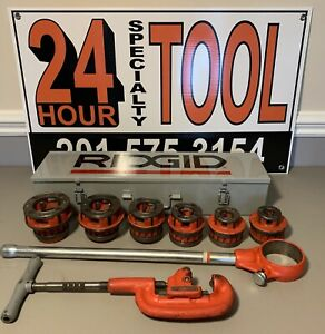 Ridgid 12 r 1 2 2 Ratchet Threader Set 2a Cutter Metal Case 700 300 12r