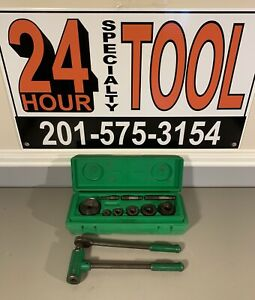 Greenlee 1806 Ratchet Knock Out Punch And Die Set 1 2 To 2 Inches