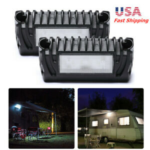 Pair 9 32v Rv Exterior Led Porch Utility Light Lamps Fit Rv Trailer Camper Boat
