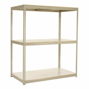 Wide Span Rack With 3 Shelves Laminated Deck 1200 Lb Cap Per Level 48 w X 36 d