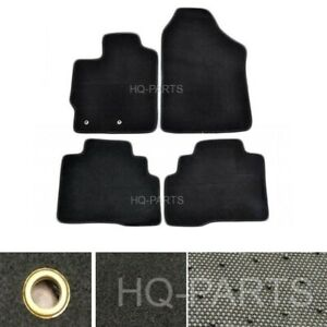 New 4 Pieces Black Nylon Carpet Floor Mats Fit For 07 12 Toyota Yaris Sedan Only