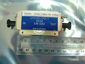 10mhz 2ghz Rf Amplifier Gain 32db Po 14dbm Utc20 212 1 Hf Vhf Uhf Patentix Ltd