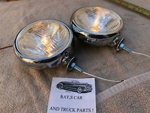 New Pair Of Small Clear Color Vintage Style Driving Lights In 12 volts