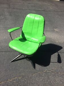 Vintage Homecrest Mid Century Modern Wire Chair W Pad Lime Green