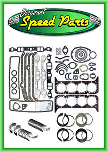 1986 1995 Gm Sbc Chevy 350 5 7l Engine Rering Remain Kit Bearings Gaskets 1 Pc