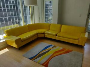 Mid Century Yellow Sectional Sofa Retro And Vintage