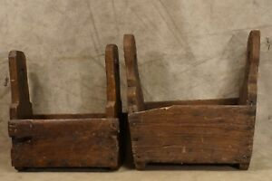 2 Antique 18th Century To 19th Century Farrier S Tool Tote Box Wrought Iron Wood