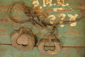 Antique Wrought Iron Heart Shape Horse Stirrups Two