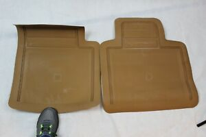 Nos Genuine Gm Rear Contour Rubber Floor Mats 88 C k Ext Cab Truck Tan 12340229