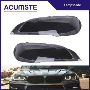 Pair Headlight Lamp Clear Lens Cover Lampshade Replacement For Bmw X5 E70 07 12