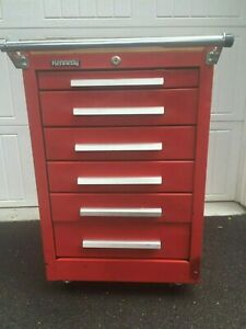 Kennedy Red 6 Drawer Roller Tool Box Rolling Cabinet Base Tooling Storage