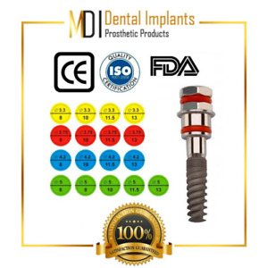 Mdi 25 Dental Implants Set 2 Pc With Surgical Box Sterile Internal hex System